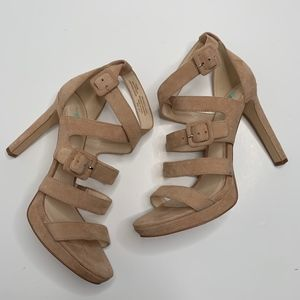 NEW Nine West | Nude Suede Strappy Heel size 8.5